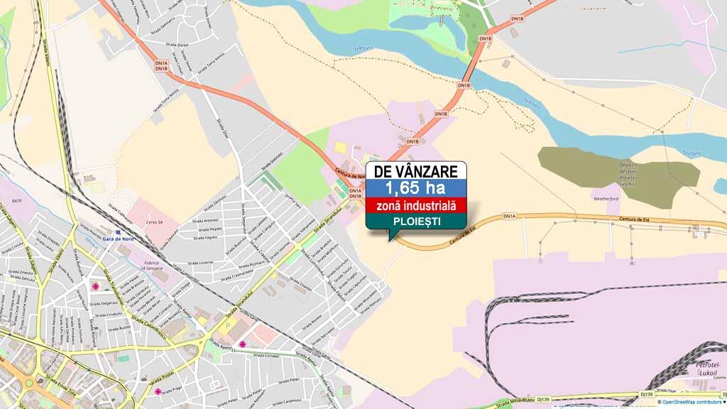 Harta de localizare teren