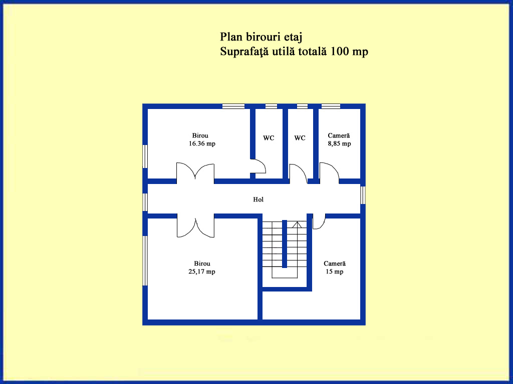 Plan birouri etaj