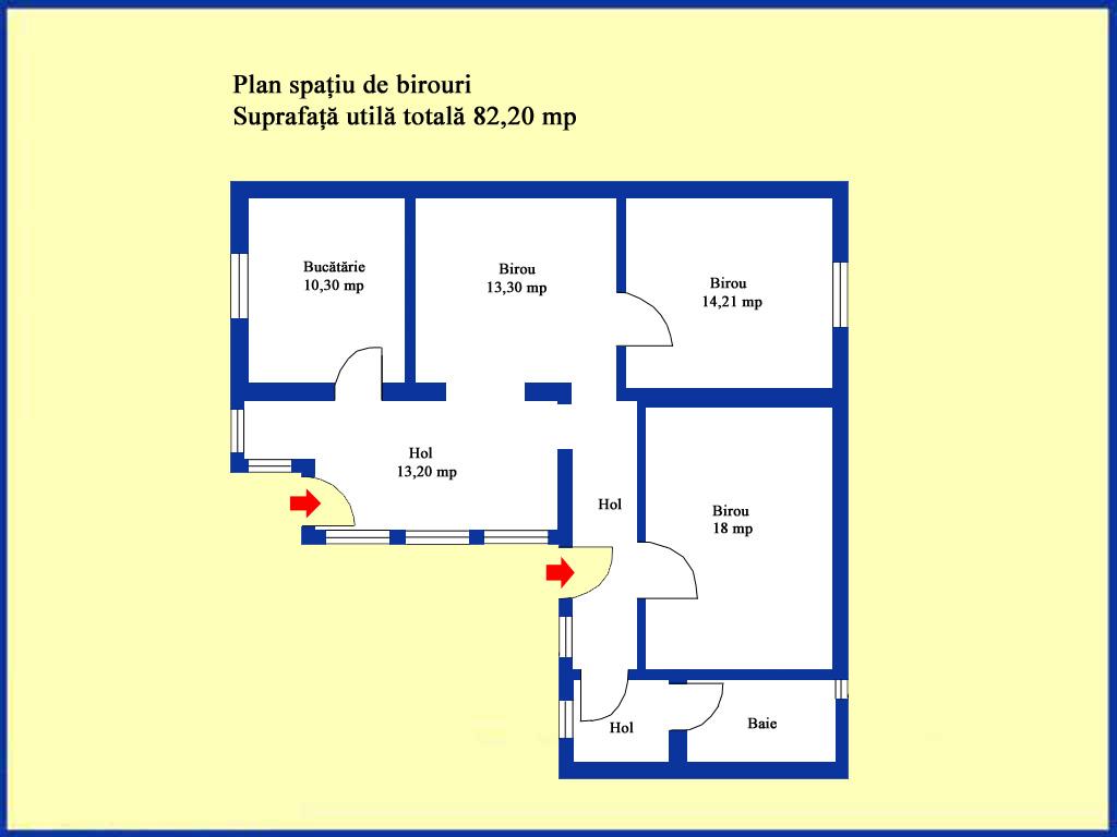 Plan spatiu de birouri
