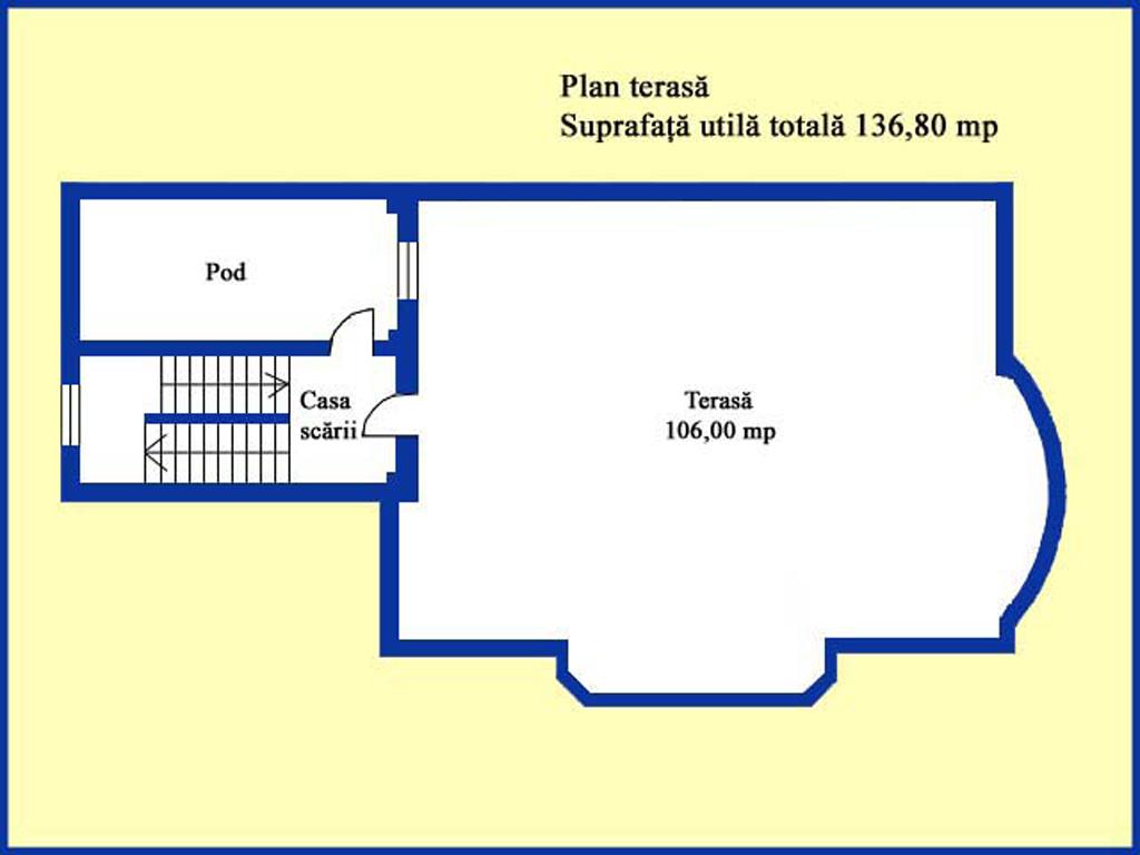 Plan terasa (etaj 3)