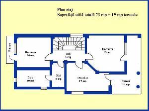 Plan de compartimentare etaj